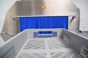 UV-C desinfectie lege bagage bakken