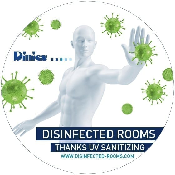 Sticker Disinfected Rooms